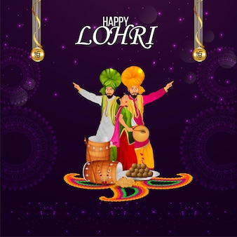 Lohri sikh festival viering achtergrond
