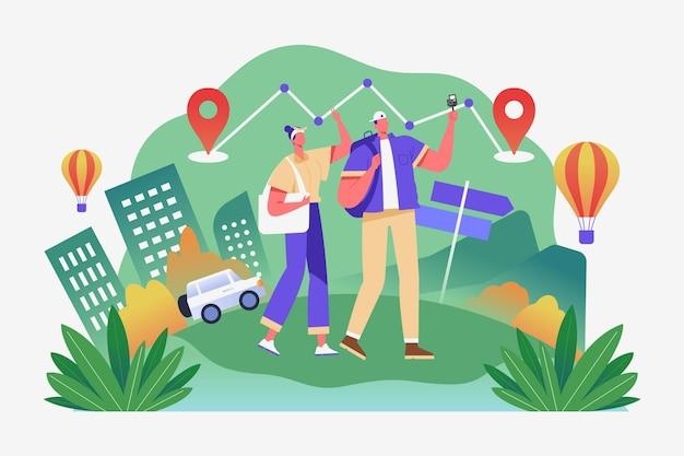 Lokaal toerisme concept