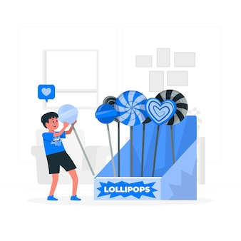 Lollipop concept illustratie