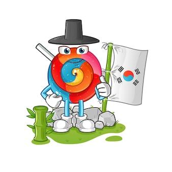 Lollipop koreaanse karakter illustratie