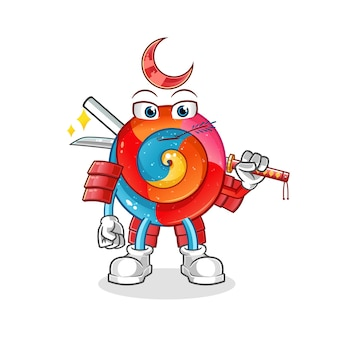 Lollipop samurai cartoon