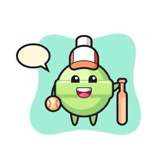 Lollipop, schattig stijlontwerp voor t-shirt, sticker, logo-element