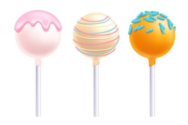 Lollipops cake pops set illustratie.