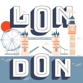 Londen bezienswaardigheden illustratie