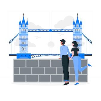 Londen concept illustratie