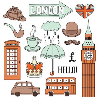 Londen elementen instellen