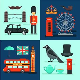 Londen gekleurde composities