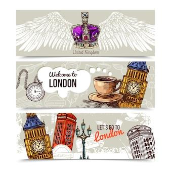 Londen horizontale banners