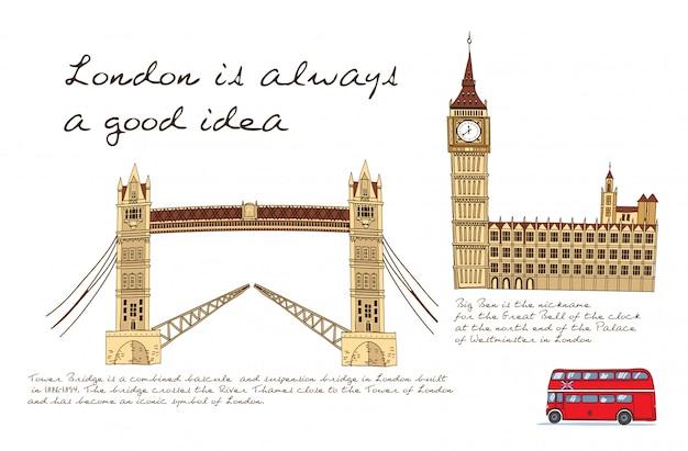 Londen kaart illustratie