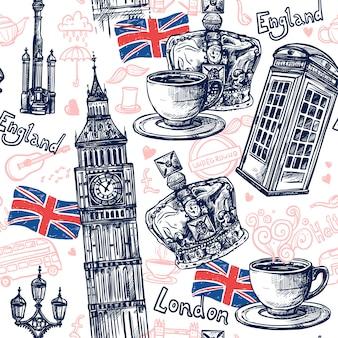 Londen naadloze patroon