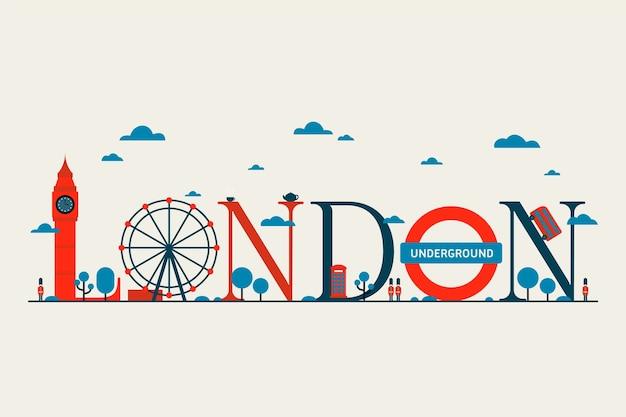 Londen stad belettering