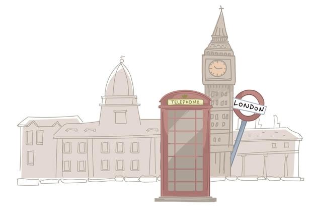 Londen stadsgezicht, mijlpaal van de britse hoofdstad