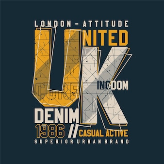 Londen verenigd koninkrijk typografie ontwerp mode t-shirt ontwerp vectorillustratie