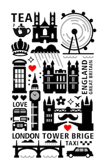 London city ingesteld embleem.
