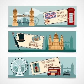 London toeristische banner set