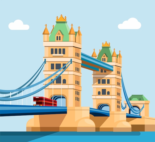 London tower bridge illustratie