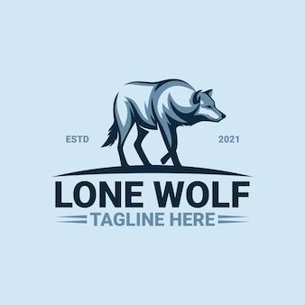 Lone wolf logo sjabloon premium