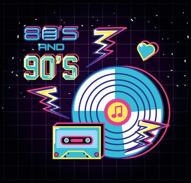 Long play jaren tachtig stijl