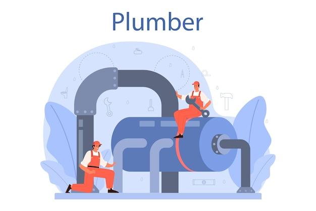 Loodgieter illustratie