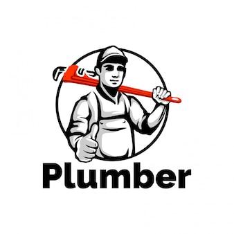 Loodgieter mascotte, loodgieter karakter, werknemer