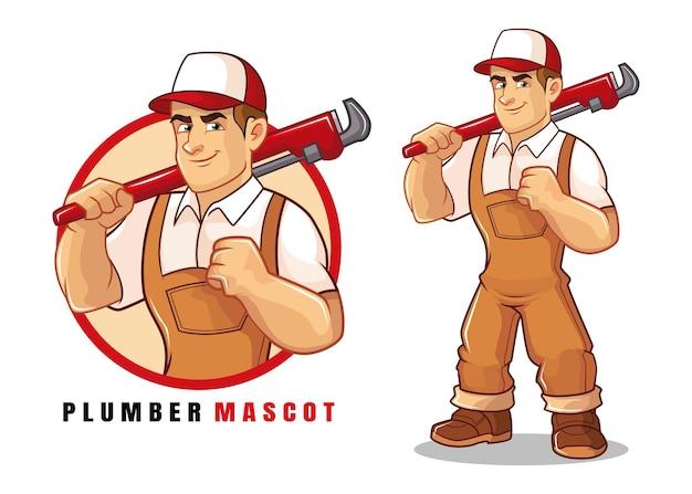 Loodgieter mascotte ontwerp