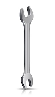 Loodgieter meesterinstrument, moersleutel. op een witte achtergrond.