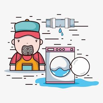 Loodgieterreparatie met mechanisch hulpmiddelen