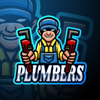 Loodgieters esport logo mascotte ontwerp