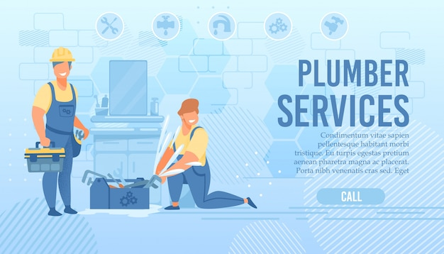 Loodgieters service webpagina aanbieding professionele hulp