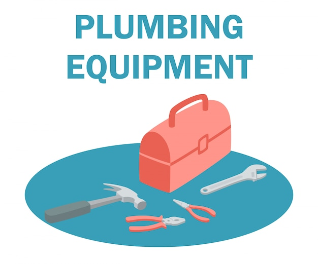 Loodgietersuitrusting gereedschapskist met gereedschapset