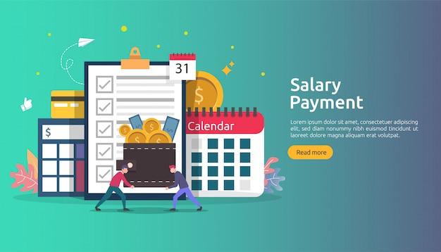 Looninkomen concept. salarisuitbetaling jaarlijkse bonus.