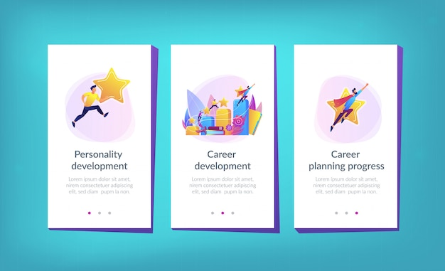 Loopbaanontwikkeling app-interfacemalplaatje