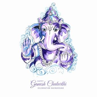 Lord ganesha festival van ganesh chaturthi-kaartontwerp