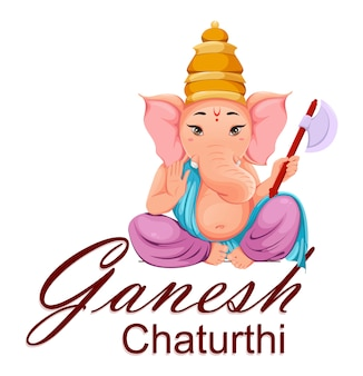 Lord ganesha, idool in traditionele indiase kleding
