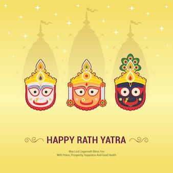 Lord jagannath jaarlijks rathayatra-festival. het rath yatra-festival is gebaseerd op de aanbidding van lord jagannath, balabhadra en subhadra. gelukkig rath yatra.