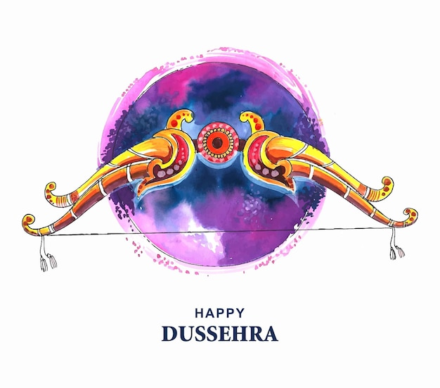 Lord rama met pijl die ravana doodt in gelukkig dussehra-ontwerp