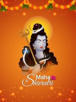 Lord shiva creatieve illustratie voor maha shivratri