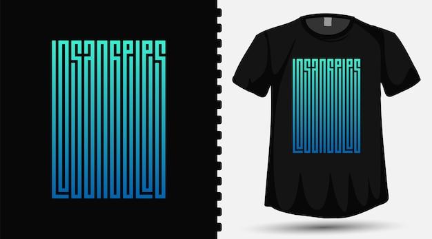 Los angeles trendy typografie belettering ontwerpsjabloon voor print t-shirt fashion kleding en poster