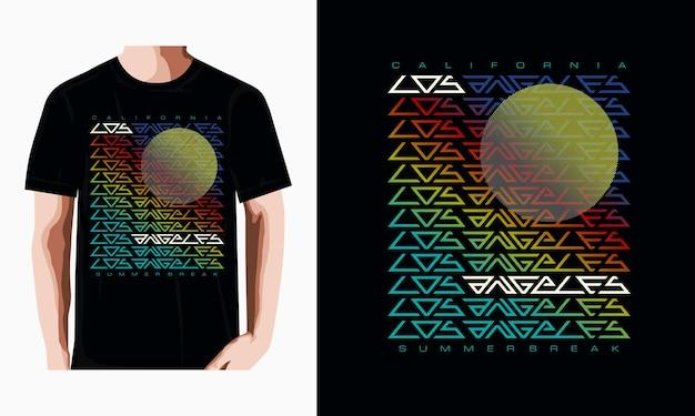 Los angeles typografie tekst t-shirt vector ontwerp illustratie premium vector