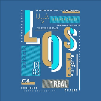 Los angeles typografie