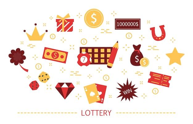 Loterij concept. gokken en bingo. spel spelen