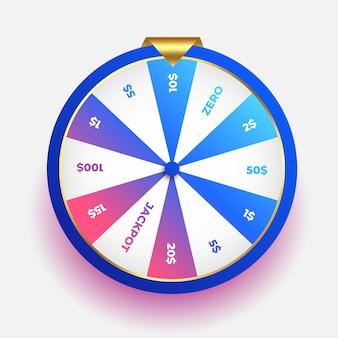 Loterij gelukswiel van fortuinontwerp