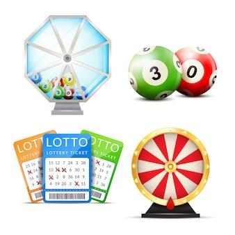 Loterij realistische accessoires ingesteld