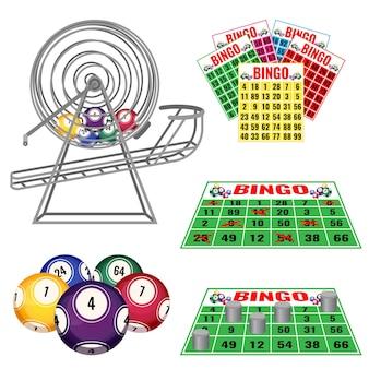 Loterijmachine met ballen erin