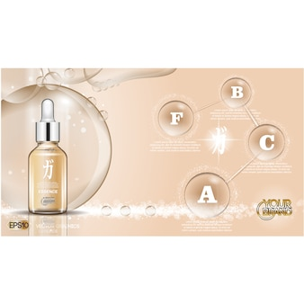 Lotion achtergrond ontwerp