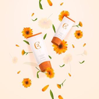 Lotion cream lichaam cosmetische advertentie