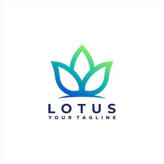 Lotus bloem kleurovergang logo ontwerp