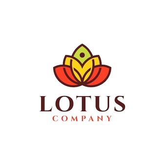 Lotus bloem logo ontwerp