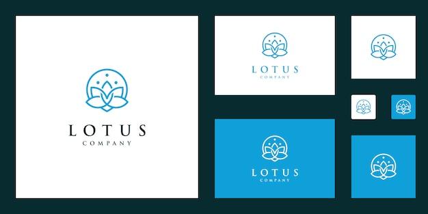 Lotus bloem logo vector