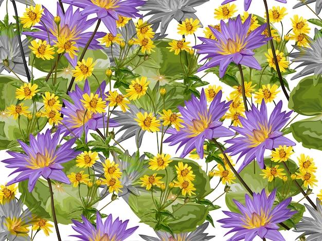 Lotus-bloem naadloos patroon